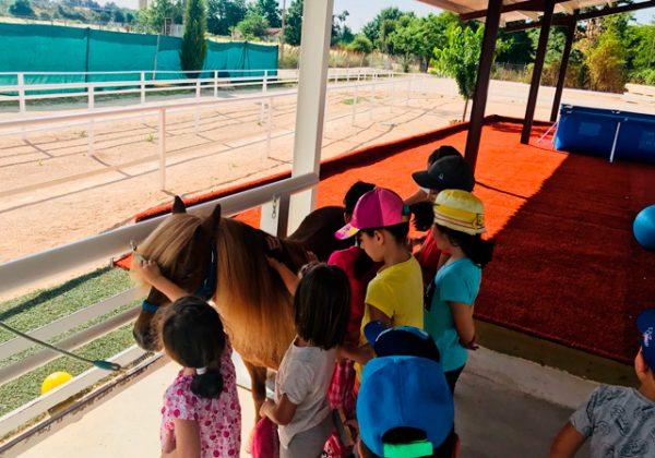 Cumpleaños con caballos en San Fernando de Henares