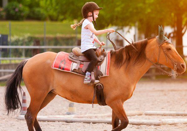 Montar a caballo en Alcalá de Henares para niños