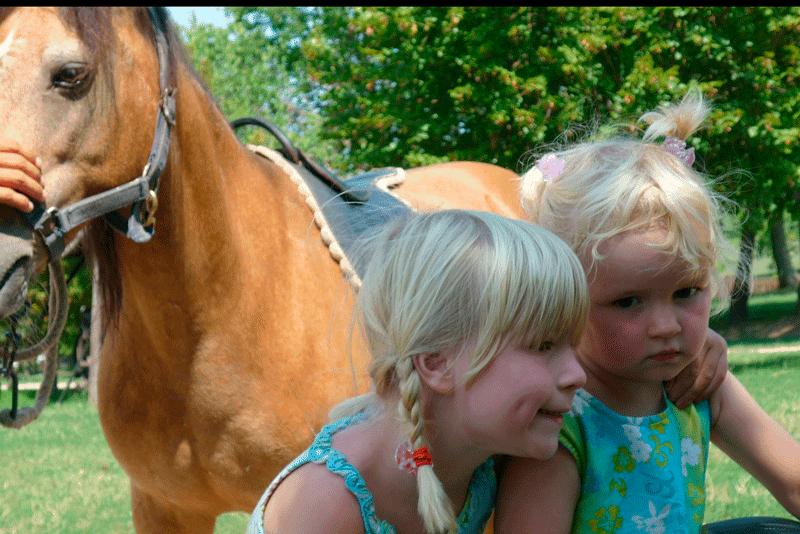 equitación para los niños